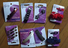 Goody hair accessories grips,school scrunchies,slides,clips ,barrettes,elastics
