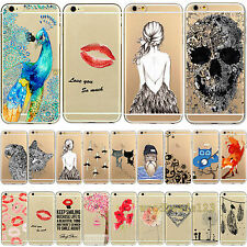 Thin Transparent Cute Fashion Pattern TPU Soft Skin Case Cover For iPhone 4 5 5S