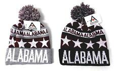 New Winter Sports Alabama Football Crimson Stars Knitted Pom-Pom Beanie OSFA