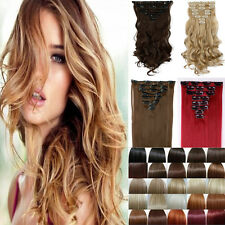 Lowest Price Full Head 8Pcs 18Clips In On Hair Extensions Real Natural Hairpiece