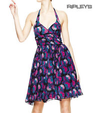 HELL BUNNY Floral 50s DRESS POLLY Purple/Pink All Sizes