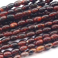 """Wholesale Natural Genuine Red Agate Oval Rice Shape Loose Stone Beads 16"""""""