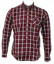 BNWT Mens Duck And Cover Gibson Red Checkered Lumberjack Shirt, Various Sizes