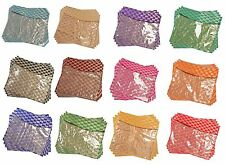 4PACK-SARI-SAREE-COVER-BAGS-PACKAGING-STORAGE ONE SIDE CLOTH CLEAR PLASTIC