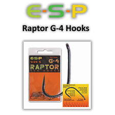 ESP Raptor G4 Hooks *All Sizes Barbed Or Barbless* Coarse Carp Fishing