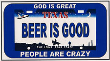 Funny Sign Refrigerator Magnet - God is Great -  License Plate- Different States
