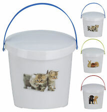 Pet Food Storage Container Dog or Cat Food Rabbit, Puppies or Kittens Design 2L