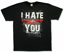 "THREE DAYS GRACE ""HATE"" BLK SLIM T-SHIRT NEW OFFICIAL ADULT EVERYTHING ABOUT YOU"