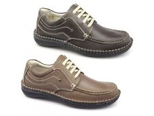 Dr Keller Neptune Mens Leather Suede Lace Up Padded Comfy Smart Casual Shoes New