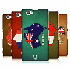 HEAD CASE DESIGNS COUNTRY FLAG MAPS CASE FOR SONY XPERIA Z1 COMPACT D5503