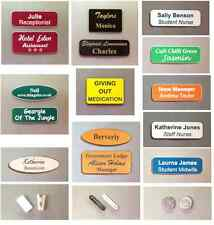 Personalised name badges engraved with your details, Acrylic badges