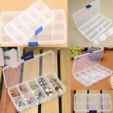 Plastic 15 Or 10 Slots Adjustable Jewelry Storage Box Case Craft Organizer C