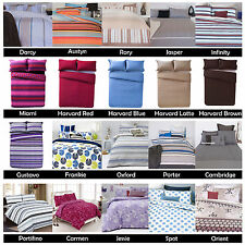 Easy Care Printed Quilt Duvet Cover Set by Apartmento - SINGLE DOUBLE QUEEN KING