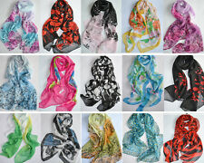 New Fashion Womens Colorful Soft Wrinkle Long Scarf Wrap Shawl Multi-Colors