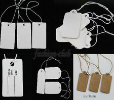 Hot Selling 100/500Pc Cards Jewelry Label Price With Elastic String Paper Tags