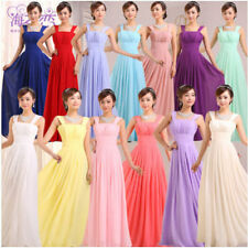 Womens Slim Fit Long Solid Toast Clothing Dress Elegant Party Evening Dress Size