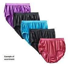 18 pack HANES Her Way Nylon Brief Panties- Style P570 - Colors!