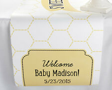 Personalized Sweet As Can Bee Table Runner Baby Shower Decoration