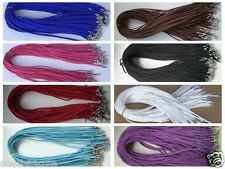 Wholesale price 10pcs Suede Leather String 20 inch Necklace Cord