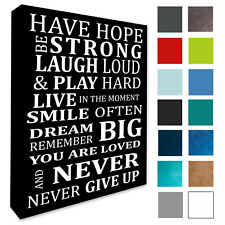 - Inspirational Motivational Wall Picture Plaque Canvas Print or Poster: 4 Sizes
