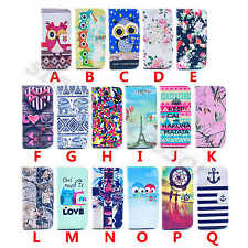 For Various Phone Popular Painted PU Leather Stand Wallet Flip Rubber Case Cover