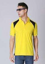 ADIDAS MENS GOLF POLO SHIRT T-SHIRT SPORTS TENNIS FASHION TOP YELLOW/BLACK NEW