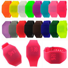 Digital LED Touch Screen Sports Silicone Bracelet Waterproof Wrist Watch Kids
