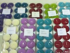PACK OF 10 SCENTED TEALIGHTS, VARIOUS SCENTS, T/LIGHTS, TEA-LIGHTS, TEA LIGHT