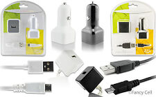 NEW 1AMP 3in1 MicroUSB Home Wall +Car Charger Adapters+ Cable For Samsung Phones