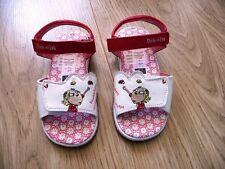 New Charlie & Lola White & Red Sandals Velcro Fastening - Size 10