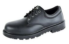 Work Shoes Mens Leather Grafters Contractor 4 Eye Safety Steel Toe Cap UK 6-16