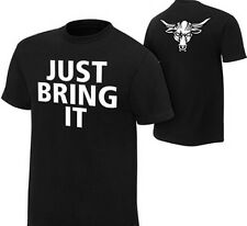 WWE The Rock Brahma just bring it Wrestling Cotton Round Neck Mens T-shirt -b2