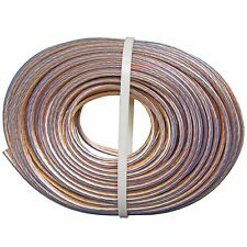 HEAVY QUALITY thick Clear bonded 12 ga gauge speaker wire high power audio cable