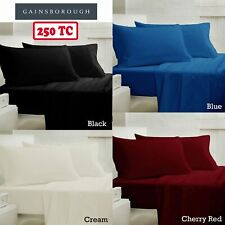 4 Pce Black Blue Cherry  250TC Sheet Set by Gainsborough QUEEN KING