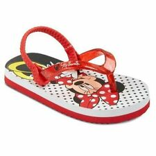 NWT DISNEY MINNIE MOUSE Flip Flop Thong Red Sandals 5 6 7 8 9 10 11 12