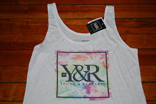 NEW Young and Reckless Y&R Tie Dye Colors Tank Top (Small, Medium)