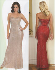 4 COLOR PAGEANT FULLY SEQUINS COCKTAIL DRESS HOMECOMING EVENING FORMAL GOWN 4-16