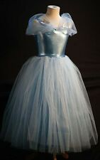 NEW-Cinders-BLUE PRINCESS-FAIRYTALE TWINKLE BALL GOWN FANCY DRESS-CHILD SIZE