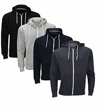 MENS PLAIN ZIP UP HOODED SWEATSHIRT AMERICAN STYLE HOODIE ZIPPER A LOT SIZE S-XL