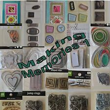 Making Memories Embellishments Scrapbooking Crafts You Choose Vellum Rings ++