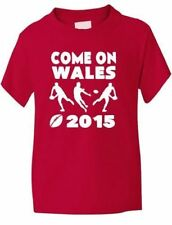 Rugby World Cup 2015 Kids T-Shirt Wales Gift Present  Sizes 1-13 Years