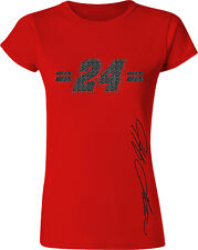 LADIES FITTED JEFF GORDON #24 3M RED GLITTER GIRL NASCAR TEE SHIRT