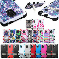 For Samsung Galaxy Phones Note 4 Hybrid Tuff Rubber Hard Case Protective Cover