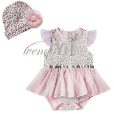 Newborn Infant Baby Girls Top Outfits Tutu Romper Birthday Dress Up Clothes Set