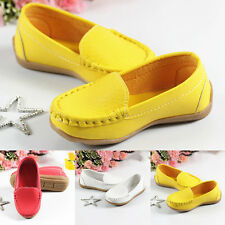 Hot Kids Toddler Girls Boy Children's Gifts Loafers Leather Flat Casual Shoes