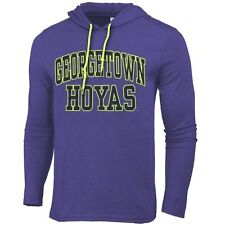 Mens Georgetown Hoyas Blue Neon Arch Fullback Hooded T-Shirt - College