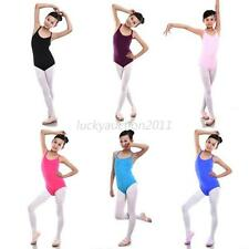 Child Kids Sleeveless Leotard Girls Cotton Ballet Dancewear Gymnastics Leotards