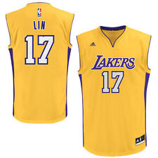 Jeremy Lin Los Angeles Lakers adidas Youth Replica Home Jersey - Gold - NBA