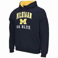 Mens Michigan Wolverines Navy Blue Arch & Logo Mascot Pullover Hoodie