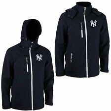 New York Yankees GIII Lateral Hooded Bonded Full Zip Jacket – Navy Blue